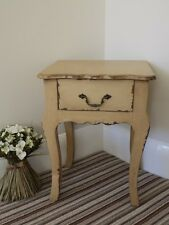 Bedside Cabinet 1 Drawer Cream Shabby Chic Assembled New Painted finish