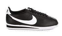 New Nike Classic Cortez Leather Casual Womens Shoes Sneakers Black White 6 - 11