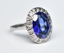 Vinatage Synthetic Sapphire Ring 18k