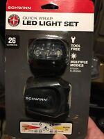 Schwinn 26 Lumen Bicycle LED Light Set Quick Wrap Front And Rear No Tools Needed