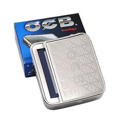 1X OCB Roller Tobacco Box 70mm Metal Automatic Cigarette Smoking Rolling Machine
