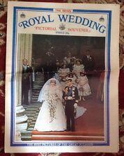 Royal Wedding Princess Diana Pictorial Souvenir Newspaper 1981