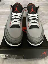 Air Jordan 3 Retro 'Stealth' Black And Grey - Size UK10