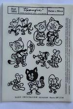 DDR Kult Typofix Haftdruckabreibfolie Saalfeld Rubbelbilder 3896 Katze u. Maus
