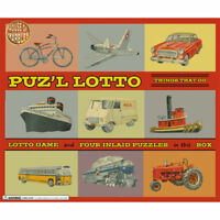 NEW PUZZLE LOTTO GAME VEHICLES THINGS THAT GO. 4 PLAYER MEMORY GAME JIGSAW HOM