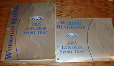 2005 Ford Explorer Sport Trac Shop Service Manual + EVTM Wiring Diagram Set 05