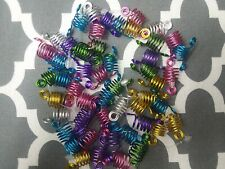 50pc Spiral Metal Hair Braid Dreadlock Cuff Jewelry