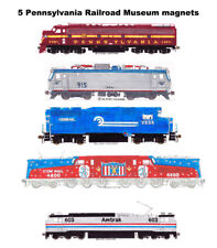 Locomotives of Pennsylvania Railroad Museum #1 set of 5 magnets Andy Fletcher