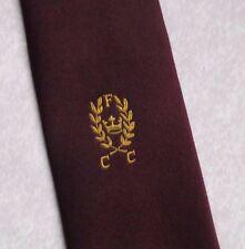 FCC Corbata Vintage Retro Cricket Club Gold Crest Motif 1980s 1990s Deporte jugador de cricket