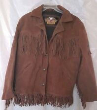 NOS Women's Harley Davidson Leather Solid Brown Jacket - Size XL