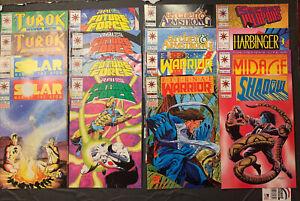 Lot of 16 Valiant Comics, Turok, Future Force, Harbinger, Secret Weapons, Shadow