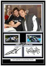 (47) guy martin & valentino rossi signed a4 photo/mounted/framed (reprint)  @@@@
