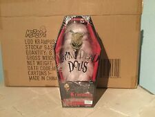 LIVING DEAD DOLL VERY RARE KRAMPUS WHITE FUR CREAM FACE  BY MEZCO  BNIB SEALED