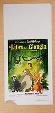 LOCANDINA, IL LIBRO DELLA GIUNGLA, WALT DISNEY ANIMAZIONE, KIPLING,EDIZIONE 1989
