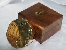 Antica bussola brunton con scatola in legno da puntamento 1917 collezione nautic