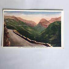 Transmountain Highway Glacier National Park Unposted Postcard