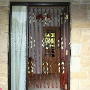 JVL Provence Traditional Hanging Wooden Beaded Door Curtain