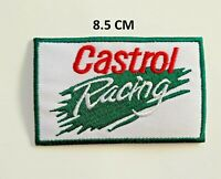 Castrol Racing Embroidered Iron on Sew On Clothes Sponsors Race Oil Badge n-130