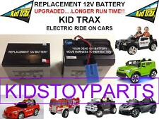 LONG LASTING REPLACEMENT KID TRAX 12 VOLT RECHARGEABLE  BATTERY BRAND NEW