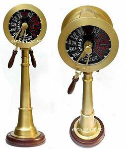 "37"" nautical antique brass ship engine room telegraph vintage marine collectible"