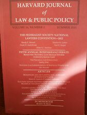 Harvard Journal of Law & Public Policy Vol. 36, No. 3, 2013 new paperback