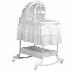Childcare Chloe Rocking Bassinet Double Skirt White