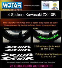 4 STICKER JANTE ZX10R ZX-10R autocollant MOTO LISERET DECALS 23 couleur
