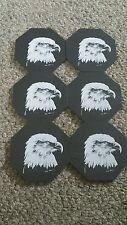 6 American Eagle Coasters Genuine Slate Pennsylvania USA Heavy Kim Jennings