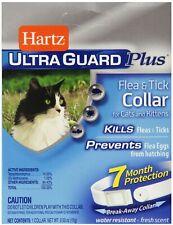 Hartz Ultraguard Plus Flea -Tick Collar for Cat, Fresh Scent 1 ea (Pack of 4)