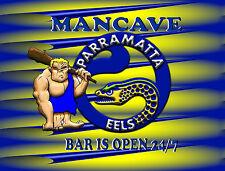 MANCAVE BAR OPEN 24/7   TIN SIGN