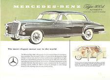 Mercedes Benz  Single Sheet  300d Automatic 4 Door Hardtop  Circa 1958