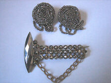 & Cut Steel Shoe Clips Antique Georgian/Early Victorian Cut Steel Brooch/Pin