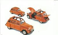 NOREV 1:18 CAR DIE CAST CITROEN 2CV 6 DEL 1976 ORANGE ART 181514