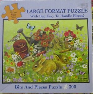 Bits and Pieces - 300 pcs Jigsaw Big Piece Puzzle - RABBITS IN THE GARDEN