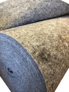 Filz Taschenfilz Bastelfilz Filzmatte Matte breite 160cm Farbe grau 825g/lfm