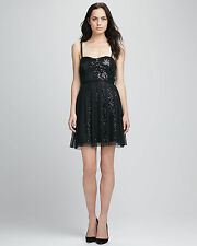 FRENCH CONNECTION SPECTACULAR SPARKLE DRESS Black Sequin Party Cocktail FCUK 6