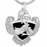 Urn Motorbike Harley Necklace Cremation Jewellery Ashes Pendant Locket Keepsake