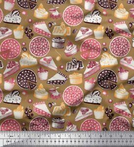 Soimoi Fabric Cake Slice & Pizza Party Print Fabric by the Yard - PY-535C