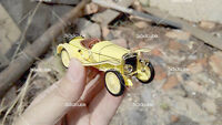 Rare 1:43 1913 Hispano Suiza Alfonso XIII 1900s Diecast Model Classic Car Yellow