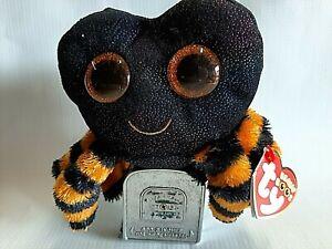 "Ty Beanie Boos Cobb Halloween Plush Spider 6"" NEW 2019 Polyester Fibers & Beads"