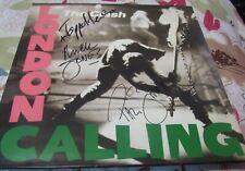 The Clash Signed Lp London Calling Paul Simonon Mick Jones Topper Headon Sharp !