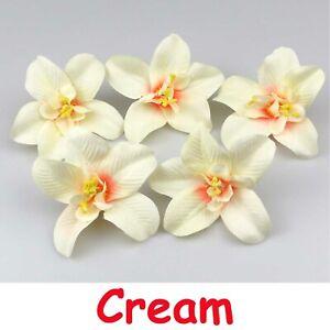 """10/100Pcs 3.1"""" Artificial flower silk Butterfly orchid heads home wedding Decor"""