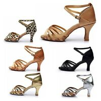 6 styles Latin Dance Shoes for Women/Ladies/Girls/Tango&Salsa/5CM and 7CM