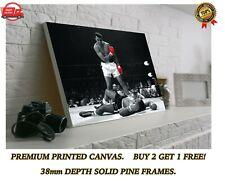 Muhammad Ali Vs Sonny Liston Boxing Large CANVAS Art Print Gift A0 A1 A2 A3 A4