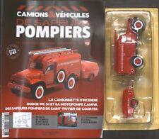 POMPIERS N° 113 ECHELLE 1/43 DODGE WC 54 ET SA MOTOPOMPE N° 113