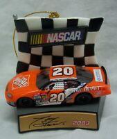 "TONY STEWART Nascar #20 RACE CAR 3"" CHRISTMAS TREE ORNAMENT 2003"