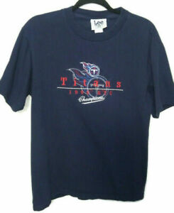 Tennessee Titans NFL AFC Champions Shirt 1999 Lee Sport Unisex Medium Vintage