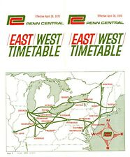Penn Central Railroad (East-West) system passenger time table:  April 26, 1970