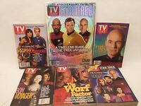 Lot of 6 Star Trek TV Guide Magazines  35th Anniversary Borg TOS TNG DS9 Voyager