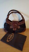 Genuine Like New Tod's Chocolate Dark Brown Handbag